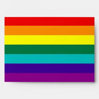 Sobre de la bandera del orgullo gay del arco iris