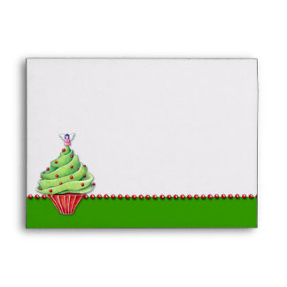 Sobre de la carta verde de la magdalena del árbol