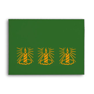 Sobre de la carta verde del diseño de la vela del
