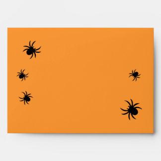 Sobre de la invitación de la araña del damasco