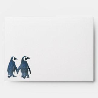 Sobre de la invitación de los pares del pingüino
