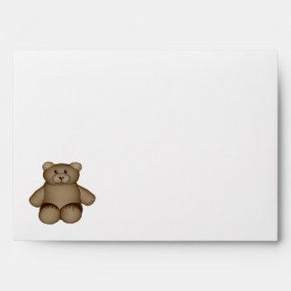 Sobre de la invitación del oso de peluche