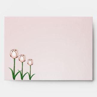 Sobre de la invitación del tulipán