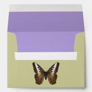 Sobre de la mariposa de las podadoras