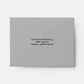Sobre de la tarjeta de contestación de Mitzvah de