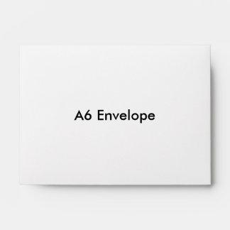 Sobre de la tarjeta de felicitación A6