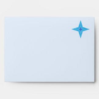 Sobre de la tarjeta de felicitación de la estrella