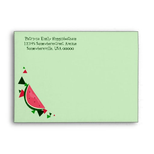 Sobre de la tarjeta de felicitación de la sandía