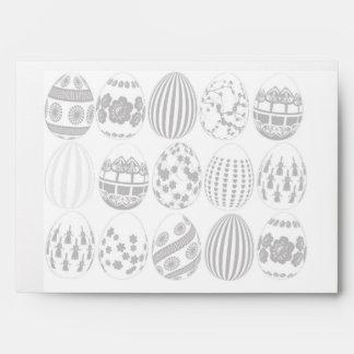 Sobre de la tarjeta de felicitación de Pascua