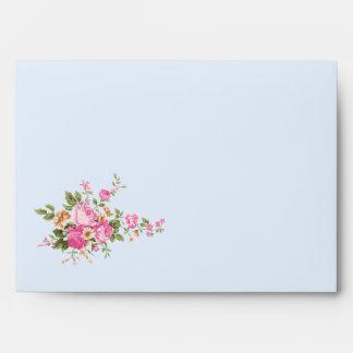 Sobre de la tarjeta de Greating de los rosas del v