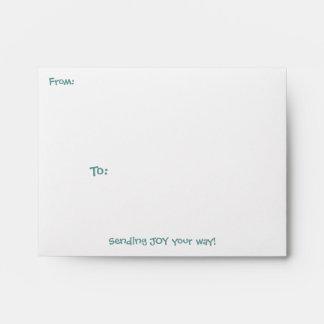 Sobre de la tarjeta de nota