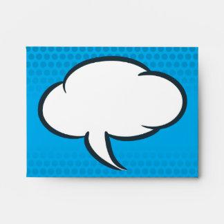 Sobre de la tarjeta de nota de cómic