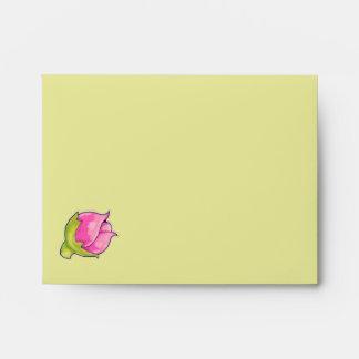 Sobre de la tarjeta de nota del verde A2 de la ale