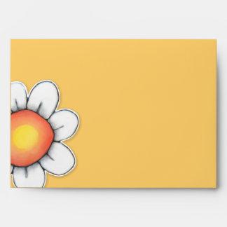 Sobre de la tarjeta del amarillo A7 de la alegría