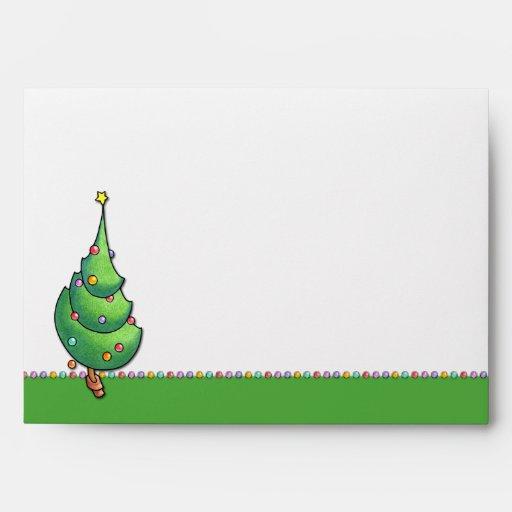 Sobre de la tarjeta del navidad Tree2