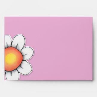 Sobre de la tarjeta del rosa A7 de la alegría de l