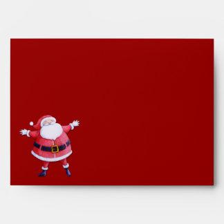 Sobre de la tarjeta roja de Papá Noel