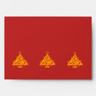 sobre de la tarjeta roja del diseño gráfico del ár