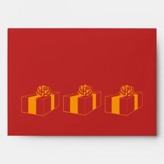 sobre de la tarjeta roja del diseño gráfico del re