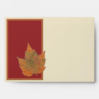 """Sobre de las hojas de otoño II para 5"""""""" tamaños x7"""