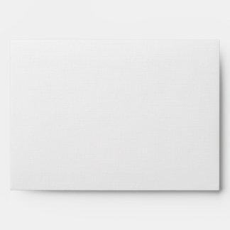 Sobre de lino y de plata blanco A7 para los tamaño