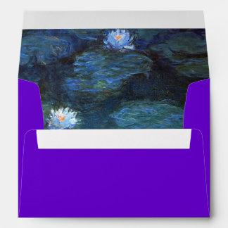 Sobre de los lirios de Monet