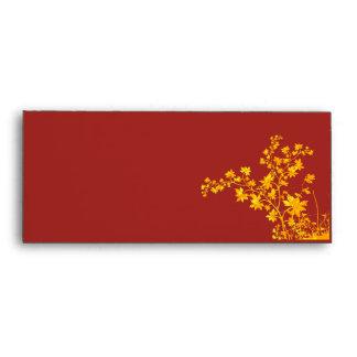 Sobre de oro del negocio de las hojas #10