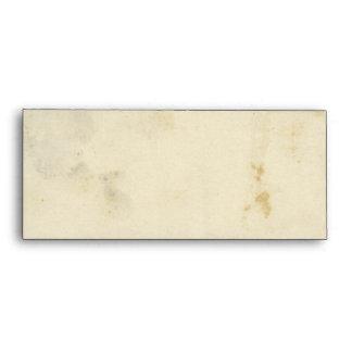 Sobre de papel manchado antigüedad