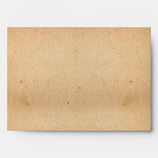 sobre de papel viejo del fondo