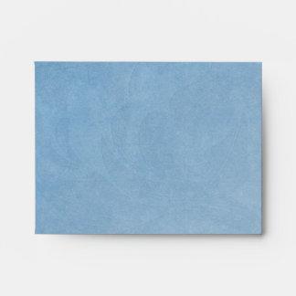 Sobre de RSVP de la tarjeta de nota azul del país