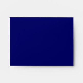 Sobre de RSVP del oro de los azules marinos
