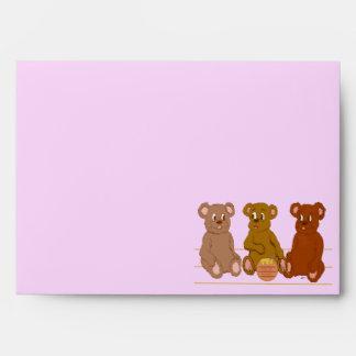 Sobre de tres osos