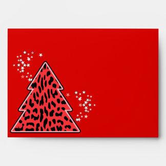 Sobre del árbol de navidad del guepardo del leopar