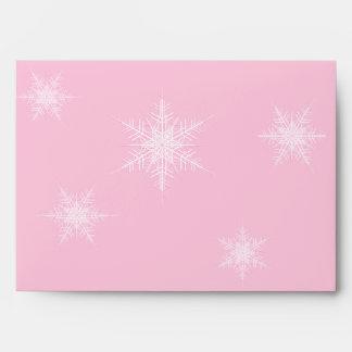 Sobre del copo de nieve 5X7 del invierno