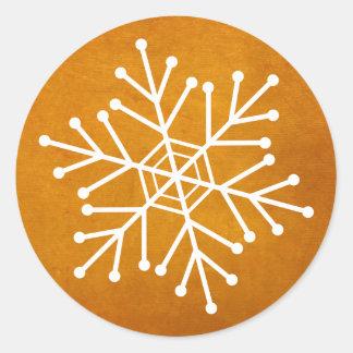 Sobre del copo de nieve del día de fiesta o pegatina redonda