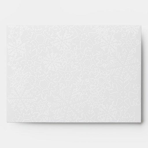 Sobre del copo de nieve - tarjeta de felicitación