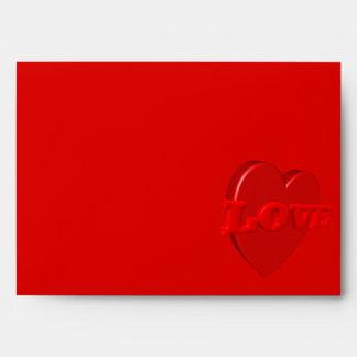 Sobre del corazón del amor