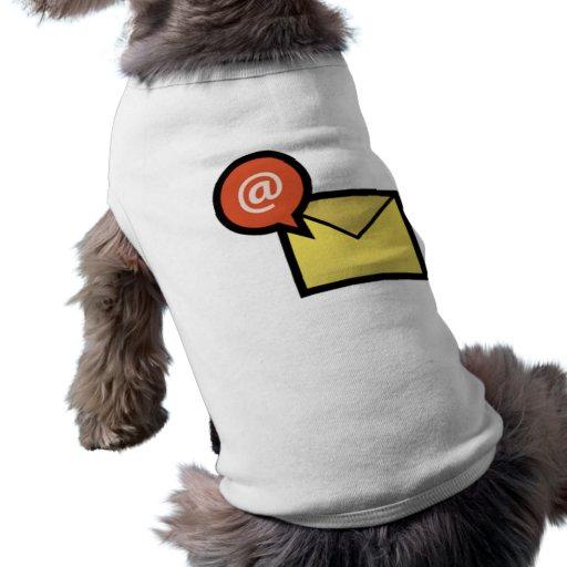 Sobre del correo electrónico camisa de mascota