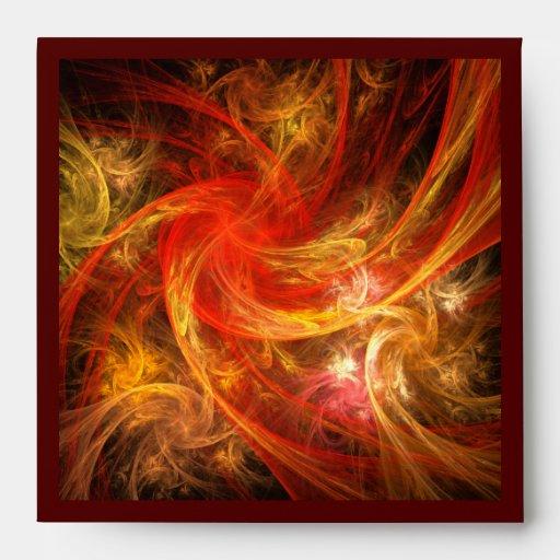 Sobre del cuadrado del arte abstracto de la tormen