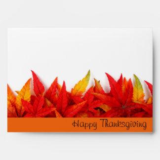 Sobre del día de la acción de gracias