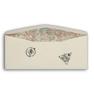 Sobre del documento de embarque con los sellos y