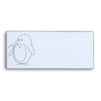 Sobre del esquema del pingüino