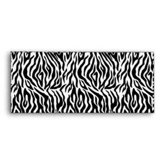 Sobre del estampado de zebra