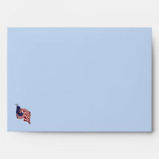 Sobre del flujo del torbellino de la bandera ameri