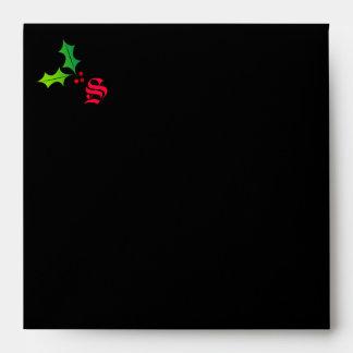 sobre del monograma 311-Christmas