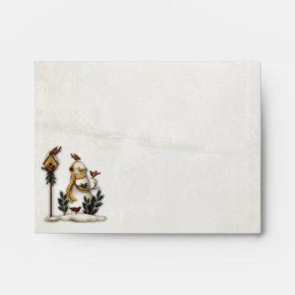 Sobre del muñeco de nieve A2 NOTECARD del navidad