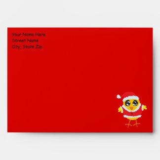 Sobre del navidad del polluelo de Santa