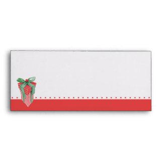 Sobre del papel con membrete del regalo del navida