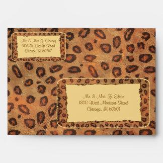 Sobre del personalizado del leopardo del caramelo