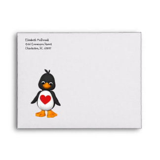Sobre del pingüino A2 del bebé